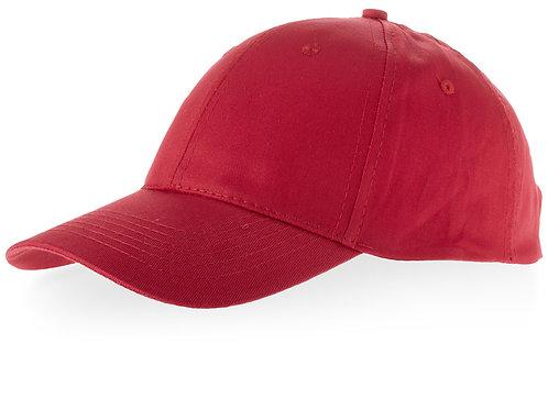 """Бейсболка """"Watson"""", 6 панелей, красный"""