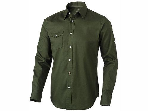"""Рубашка """"Nunavut"""" мужская с длинным рукавом, армейский зеленый"""