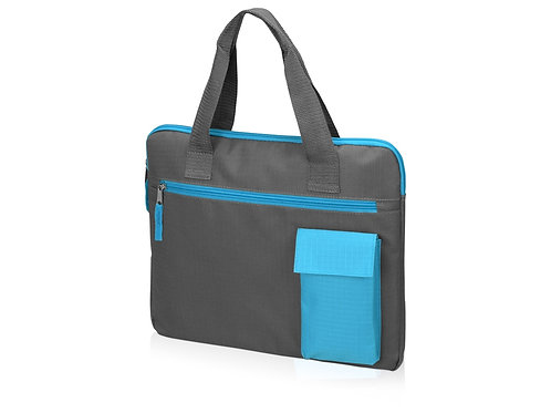 Конференц сумка «Session», серый/голубой