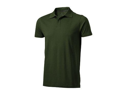 """Рубашка поло """"Seller"""" мужская, армейский зеленый"""