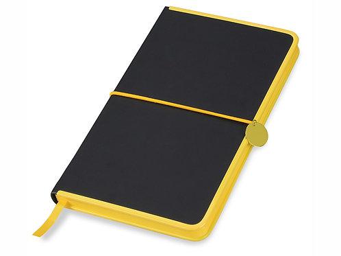 """Блокнот """"Color Rim"""", черный/желтый. Lettertone"""