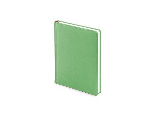 Ежедневник недатированный А6+ «Velvet», зеленый флуор
