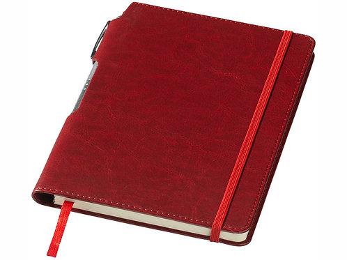 """Блокнот А5 """"Panama"""" с ручкой, красный"""