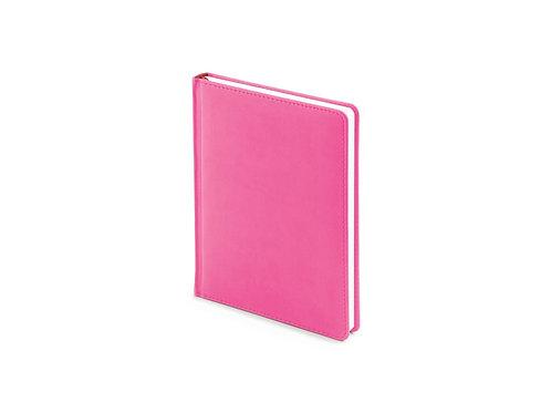 Ежедневник недатированный А6+ «Velvet», розовый флуор