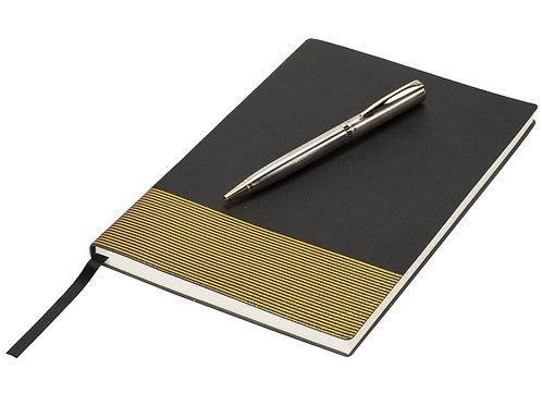 Блокнот А5 «Gold lines», черный/золотистый