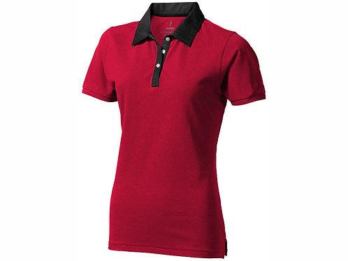 """Рубашка поло """"York"""" женская, красный/антрацит"""