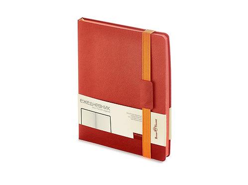 Ежедневник В5 недатированный «Leggenda», красный