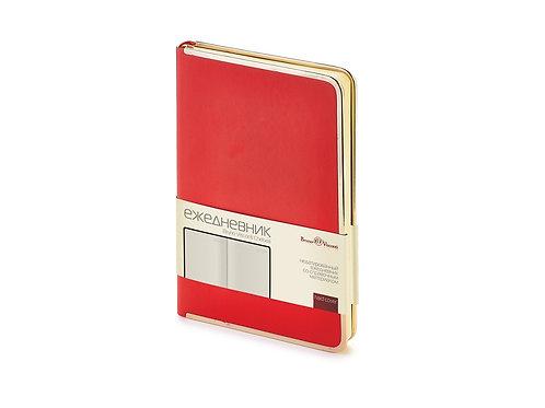 Ежедневник А5 недатированный «Chelsea», красный