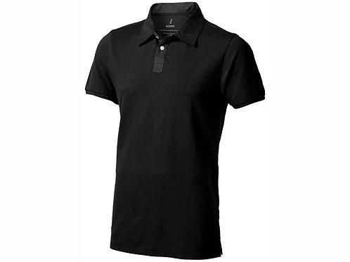 """Рубашка поло """"York"""" мужская, черный/антрацит"""