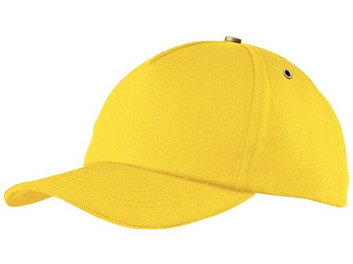 "Бейсболка ""New York C""  5-ти панельная, желтый"