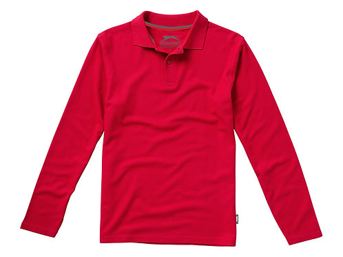 """Рубашка поло """"Point"""" мужская с длинным рукавом, красный"""