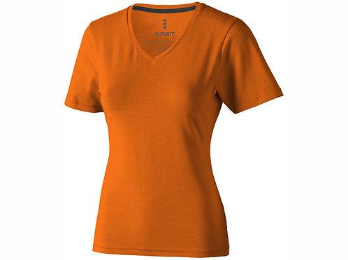 """Футболка """"Kawartha"""" женская с V-образным вырезом, оранжевый"""