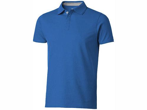 """Рубашка поло """"Hacker"""" мужская, небесно-синий/серый"""