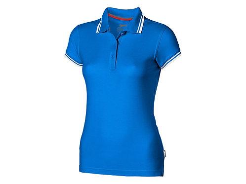 """Рубашка поло """"Deuce"""" женская, небесно-голубой"""
