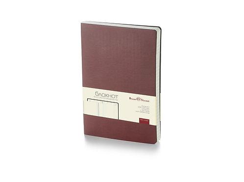 Блокнот А5 «Megapolis Flex» soft-touch, коричневый