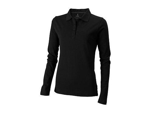 """Рубашка поло """"Oakville"""" женская с длинным рукавом, черный"""