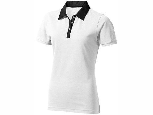"""Рубашка поло """"York"""" женская, белый/антрацит"""