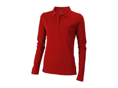"""Рубашка поло """"Oakville"""" женская с длинным рукавом, красный"""