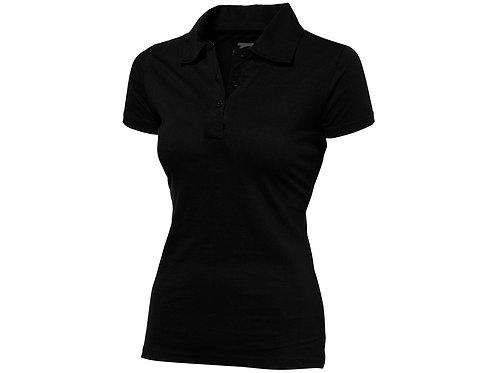 """Рубашка поло """"Let"""" женская, черный"""
