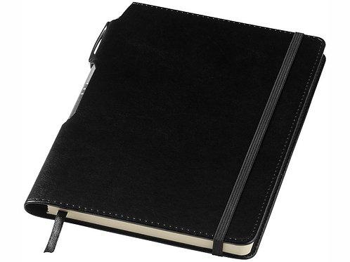 """Блокнот А5 """"Panama"""" с ручкой, черный"""