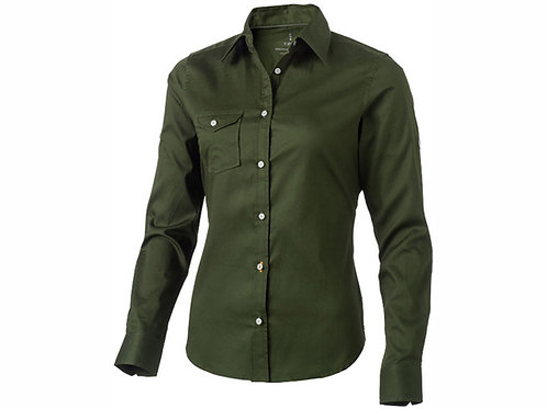 """Рубашка """"Nunavut"""" женская с длинным рукавом, армейский зеленый"""