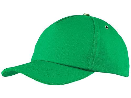 """Бейсболка """"New York"""" 5-ти панельная,металлическая застежка и фурнитура, зеленый"""