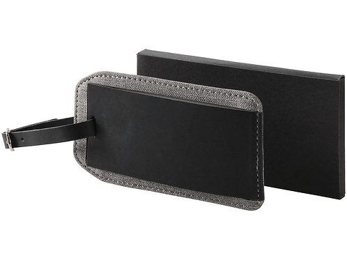 Бирка для багажа «Heathered», черный