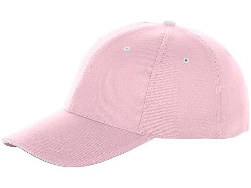 """Бейсболка """"Brent"""", «сэндвич», 6 панелей, розовый"""