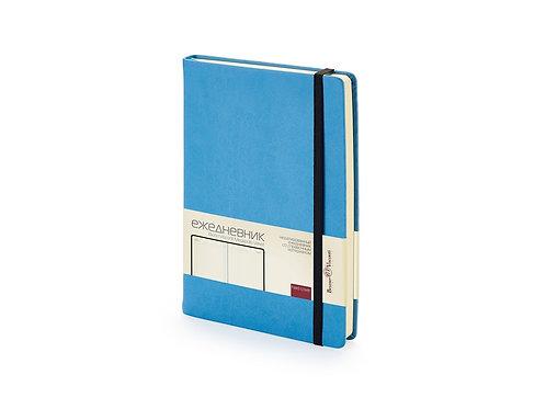 Ежедневник А5 недатированный «Megapolis Velvet», небесно-голубой