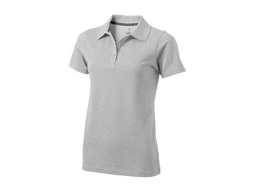 """Рубашка поло """"Seller"""" женская, серый меланж"""