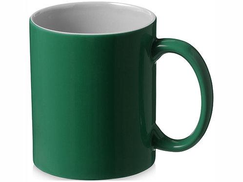 """Кружка керамическая """"Java"""", зеленый/белый"""