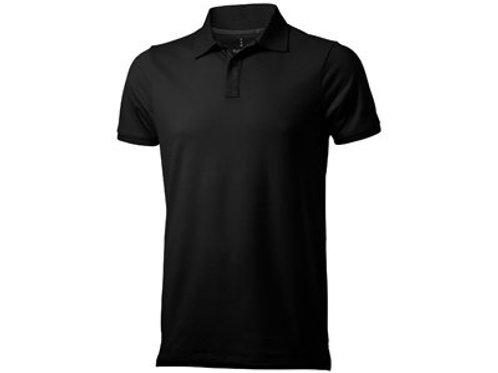 """Рубашка поло """"Yukon"""" мужская, черный"""