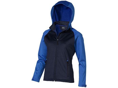 """Куртка софтшел """"Сhallenger"""" женская, темно-синий/небесно-голубой"""