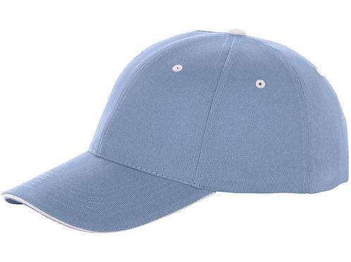 "Бейсболка ""Brent"", «сэндвич», 6 панелей, светло-синий"