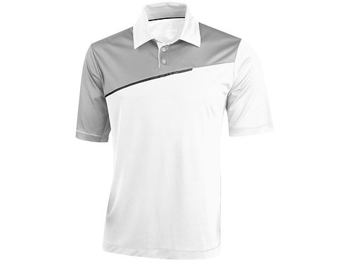 "Рубашка поло ""Prater"" мужская, белый/светло-серый"