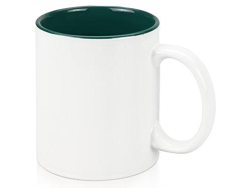 Кружка «Gain» 320мл, белый/зеленый