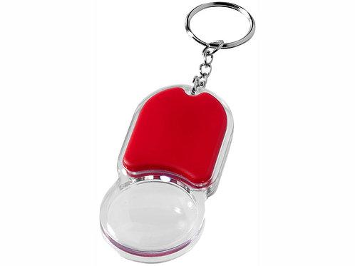 """Брелок """"Zoomy"""" с увеличительным стеклом и фонариком, красный"""