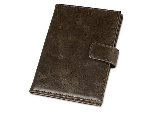 Бумажник путешественника «Druid» с отделением для паспорта, коричневый