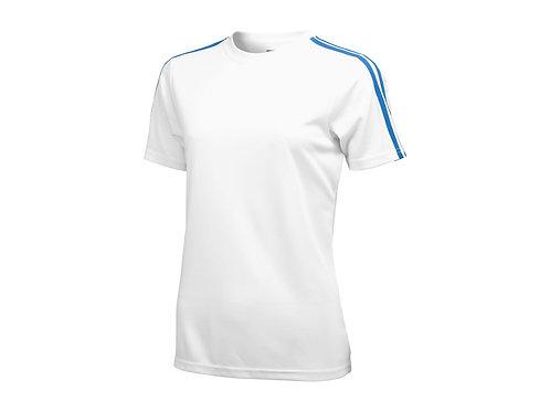 """Футболка """"Baseline"""" женская, белый/небесно-синий"""