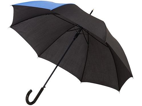 """Зонт-трость Lucy 23"""" полуавтомат, черный/синий"""
