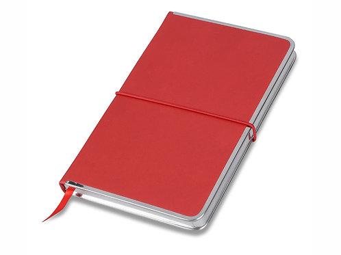 "Блокнот ""Silver Rim"" красный. Lettertone"
