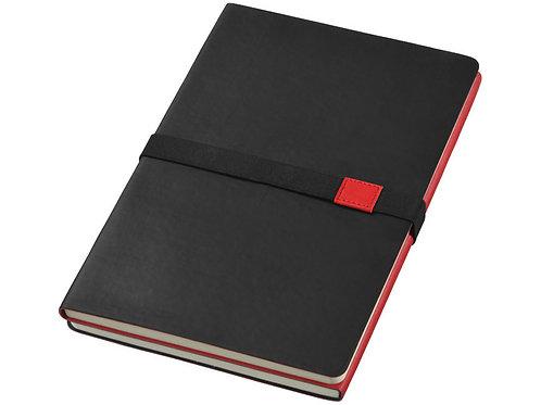 """Блокнот А5 """"Doppio"""", черный/красный"""