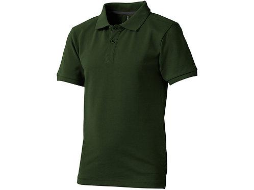 """Рубашка поло """"Calgary"""" детская, зеленый армейский"""
