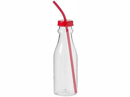 """Бутылка """"Soda"""", прозрачный/красный"""