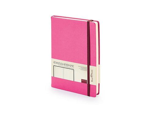 Ежедневник А5 недатированный «Megapolis Velvet», розовый
