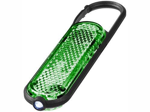 """Брелок """"Ceres"""" с карабином и светодиодом, зеленый"""