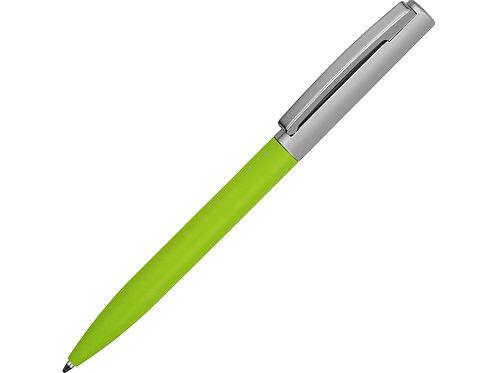 Ручка металлическая soft-touch  «Tally» с зеркальным слоем, серебристый/зеленый