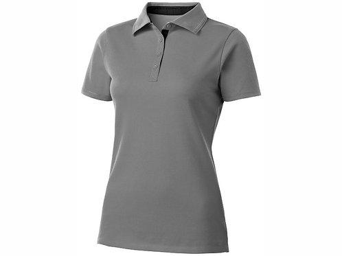 """Рубашка поло """"Hacker"""" женская, серый/черный"""