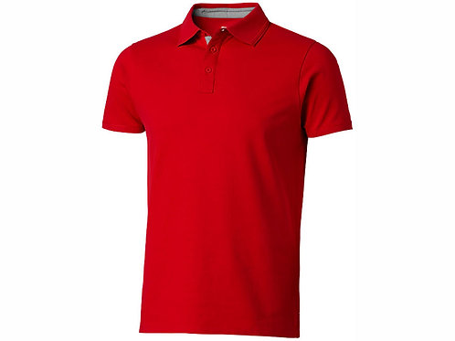 """Рубашка поло """"Hacker"""" мужская, красный/серый"""