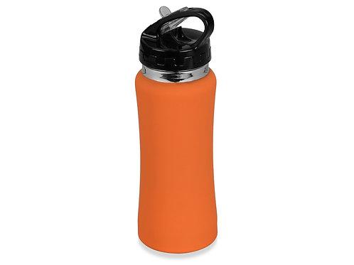 """Бутылка спортивная """"Коста-Рика"""" 600мл, оранжевый"""